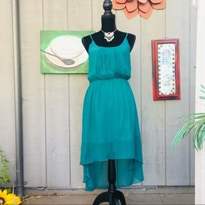 Windsor Green High Low Green Dress Size Small